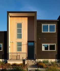 A Ngārara townhouse bathing in the rising sun. Carefully crafted by First Light Studio Ltd using Vulcan cladding in Sioo:x and Ebony finishes. Cuba Street, Timber Cladding, Good Ol, One Light, Natural Wood, Townhouse, Alternative, Shed, Outdoor Structures