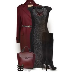 """""""Tweed Dress with Tall Boots"""" by renee-switzer on Polyvore"""