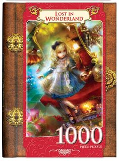 6be8edff039c86 Amazon.com: Masterpieces Lost in Wonderland Book Box Assortment Jigsaw  Puzzle (1000-