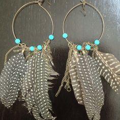Bebe feather earrings New never worn. bebe Jewelry Earrings