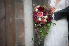 Organic wedding bouquet by Waterlily Pond.