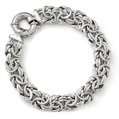 Leslies Sterling Silver Fancy Link Bracelet QLF138
