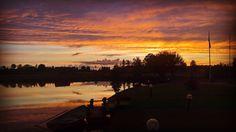 Perfect sunset for a perfect day! #latvia #sky #sunset #orange #lake #wedding #evening #nature