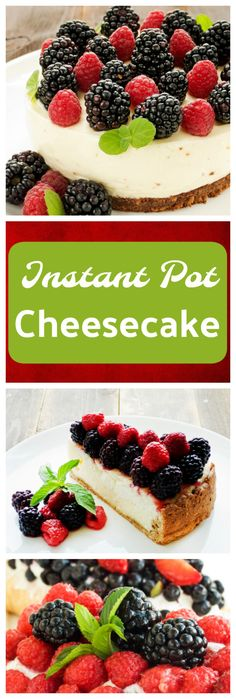 Instant Pot Cheesecake - Instant Pot Cooking. This is a great Instant Pot cheesecake recipe. Serve it up with berries or your other favorite cheesecake toppings,
