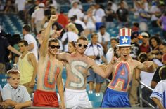 #TeamUSA soccer fans show their support during the USA vs. Scotland game on May 26, 2012 | Getty Images, Gary Bogdon