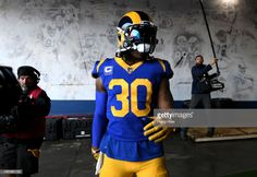 Todd Gurley  30 of the Los Angeles Rams prepares to take the field before  the e34dba122