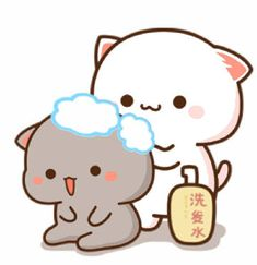 Cute Love Gif, Cute Love Pictures, Cute Images, Cute Anime Cat, Cute Cat Gif, Cute Cats, Cute Bear Drawings, Cute Cartoon Drawings, Cute Cartoon Pictures