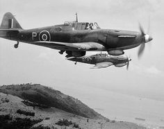 Boulton Paul Defiant - a turret fighter with no forward firing guns proved effective against bombers but was vulnerable to daylight enemy fighters - was switched to a successful night fighter role.