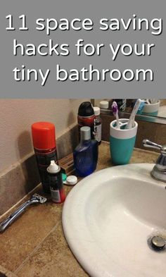 Space Saving Storage Hacks for your bathroom and other small spaces! Your tiny bathroom is about to get bigger with this collection of 11 space saving & storage hacks to organize your tiny bathroom! Space Saving Storage, Storage Hacks, Storage Ideas, Space Saving Ideas For Home, Craft Storage Solutions, Drawer Storage, Creative Storage, Extra Storage, Deep Cleaning Tips