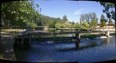 El rio Nela a su paso por Villarcayo