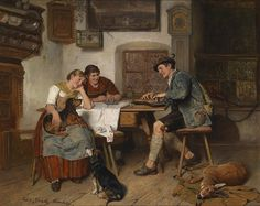 A Musical Entertainment Paintings | Adolf Eberle paintings