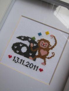 Happy birthday Arron Cross stitch
