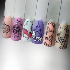 Summer Nail Designs - My Cool Nail Designs Watermelon Nail Designs, Watermelon Nails, Colorful Nail Designs, Cute Nail Designs, Super Cute Nails, Pretty Nails, Nail Art Arabesque, Bright Colored Nails, Summery Nails