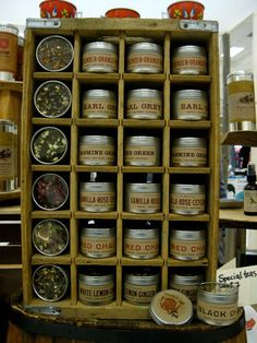 I like the way these tins are displayed...