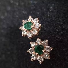Pearl And Diamond Earrings, Diamond Earing, Emerald Earrings, Emerald Jewelry, Cuff Earrings, Gemstone Earrings, Silver Earrings, Gold Jewelry Simple, Gold Earrings Designs