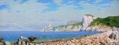 """Побережье"" Холст/масло, 120см Х 50см. #маринист #море #Фёдоровмихаил #seacoast #paysage #fineart #海景 #照片"