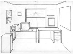 1 Point Perspective Drawing Room One Point Perspective Room - Architecture Drawing One Point Perspective Room, 1 Point Perspective Drawing, Perspective Art, Interior Architecture Drawing, Architecture Concept Drawings, Interior Design Sketches, Drawing Furniture, Drawing Room, Home