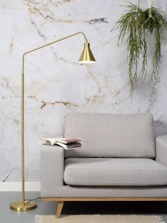 Buy the Floor lamp Lyon from It's about Romi, on Made in Design - 48 to 72 hours delivery. It's About Romi, Lyon, Long Lamp, Gold Floor Lamp, Lighting Suppliers, Luminaire Design, Interior And Exterior, Exterior Design, Decoration