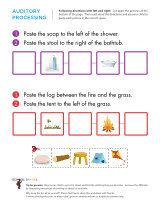 Printables Auditory Memory Worksheets challenging auditory processing worksheets that use the words right left and