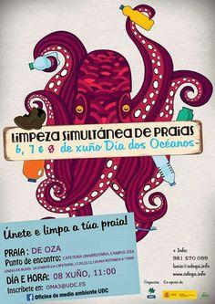 Universidade da Coruña: Campaña de limpeza de praias (2015)