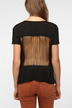 Truly Madly Deeply Slash-Back Tee  #UrbanOutfitters