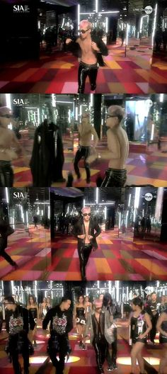 G-Dragon Takes Off His Shirt On SIA Stage While Performing More: http://www.kpopstarz.com/articles/46914/20131026/g-dragon-takes-off-shirt-for-stage.htm
