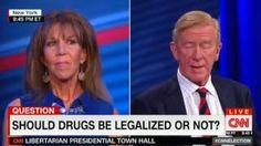 HIGH QUALITY - CNN Libertarian Presidential Town Hall PART 3 - Gary Johnson Bill Weld