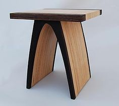 """""""End Table"""" by Kerry Vesper: Wood Side Table available at www.artfulhome.com"""