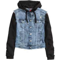 H&M Hooded denim jacket