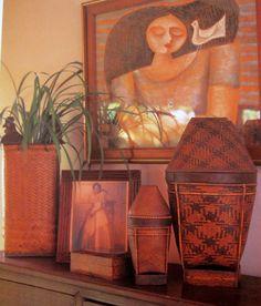 Filipino Home Styling. Ethnic Filipino Basketry and Contemporary Pinoy Art.