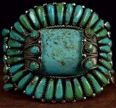 HANDMADE STERLING SILVER TURQUOISE NAVAJO BRACELET. Authentic Navajo Handcrafted Sterling Silver Cuff Bracelet - Gorgeous BLUE GREEN Turquoise. Heavy, Thick Bracelet, Solid and well made older cuff. This is a big, big bracelet! | eBay!