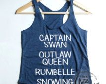 OUAT Ships Once Upon A Time Shippers Outlaw Queen Captain Swan Rumbelle Snowing Outlaw Queen tank top shirt