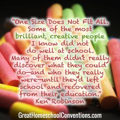 One size doesn't fit all. Early Bird registration at Great Homeschool Conventions Homeschool encouragement, teaching helps. curriculum choices. Excellent homeschool speakers