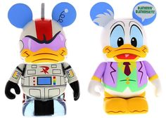 Disney Afternoon Series 2 Vinylmations - Gizmoduck and Fenton Crackshell, Ducktales