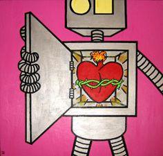 Robot heart <3 Robot, Heart, Accessories, Robots, Hearts, Jewelry Accessories