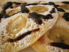 (Amerikai) Vastag banános palacsinta  recept fotó Crepes, Pancakes, French Toast, Deserts, Breakfast, Ethnic Recipes, Sweet, Food, Morning Coffee