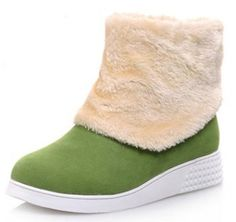 IDIFU Women's Comfy Low Wedge Heels Fleece Lined Faux Suede Snow Boots Winter Booties *** You can get additional details at the image link.
