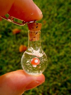 Micro Mushroom Vial Necklace by =UntilItEnds on deviantART