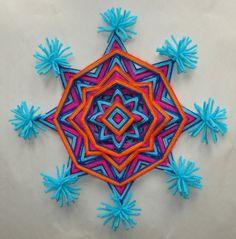 Mardi Gras   Ojo de Dios  Yarn Mandala by HighDesertBohemian, $28.00