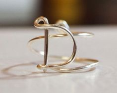 "initial ""D"" wire wrapped ring"