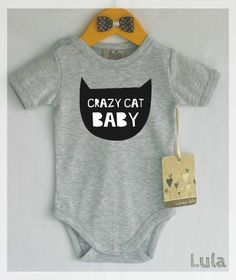 Hey, I found this really awesome Etsy listing at https://www.etsy.com/listing/252899433/crazy-cat-baby-clothes-cute-and-funny