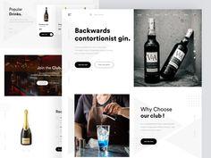 Product Landing page by sadbin walid on Dribbble Popular Drinks, Landing Page Design, Web Design, Design Web, Website Designs, Site Design