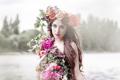 wreath of flowers for hairstyles