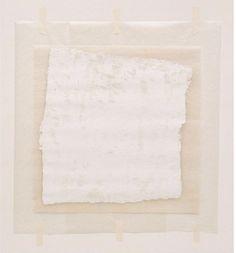 Robert Ryman: Surface Veil, Oil on fiberglass with waxed paper frame and masking tape. Fiberglass sheet: 13 x x 33 cm); overall sheet: 18 x x 38 cm). Museum of Modern Art, New York. Robert Ryman, Zen, African Artwork, Geometric Type, Paper Frames, Watercolor Artists, French Art, Conceptual Art, Face Art