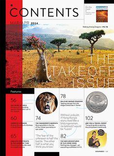 Escapades Magazine: The Takeoff Issue - Matt Chase | Design, Illustration