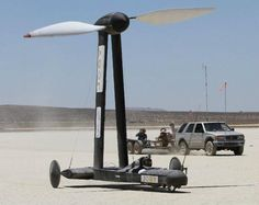 """For those wondering where one might buy a scientific-defying wind-powered machine, the """"Blackbird"""" is now for sale. Char A Voile, Fuel Efficient Cars, Truck Engine, Wind Power, Cars And Motorcycles, Wind Turbine, Physics, Transportation, Sailing"""