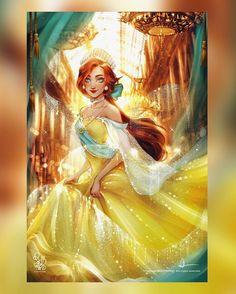 Disney Princess Fashion, Disney Princess Art, Disney Fan Art, Real Princess, Princess Zelda, Disney Anastasia, Non Disney Princesses, Image Princesse Disney, Walt Disney