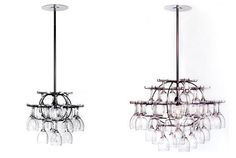 """Creative wine glass storage, chandelier...""  RT @SCWinery  #wine"