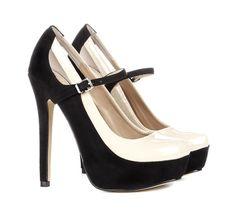 d3f240f4f80 Black & cream heels Accesorios De Moda, Zapatos Nuevos, Zapatos Originales,  Carteras Bonitas