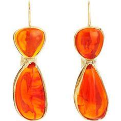 Sandra Dini Fire Opal Drop Earrings